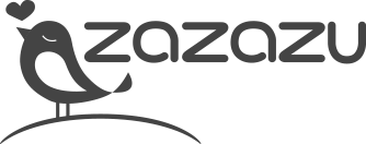 desaturated logo of zazazu