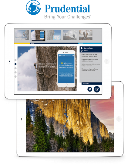 iPad Pros display rich imagery of Prudential 's finished iOS application