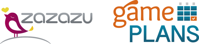 Logo of Zazazu & Logo of Game Plans