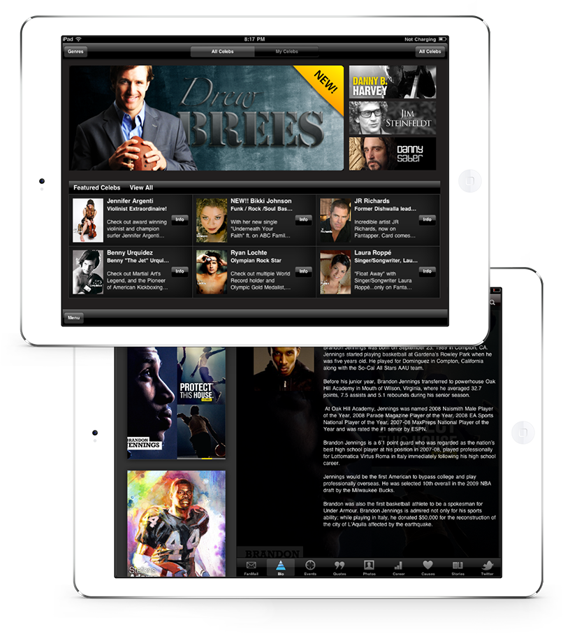 Successful product restoration: iPads display complex movie recommendations and categories