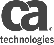 desaturated logo of ca technologies
