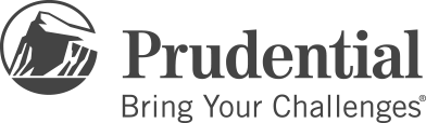 desaturated logo of prudential