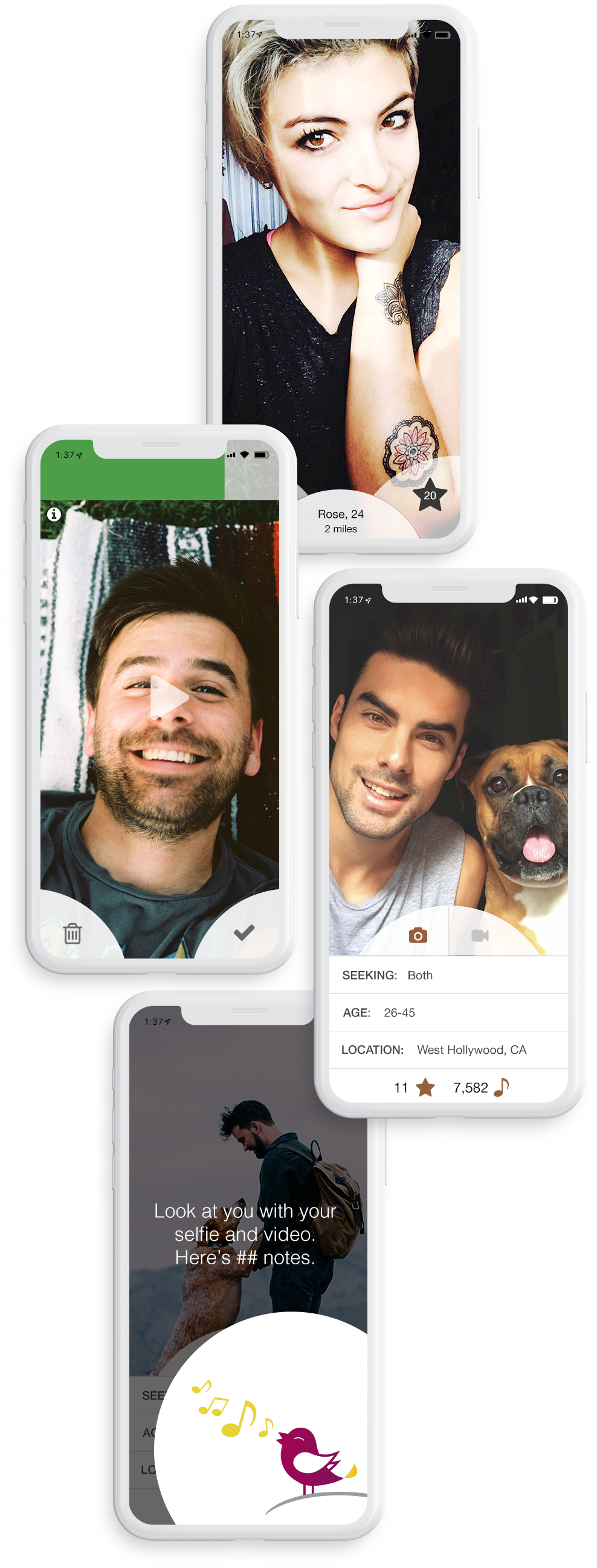 iPhones feature diverse functionality of Zazazu's new mobile app design