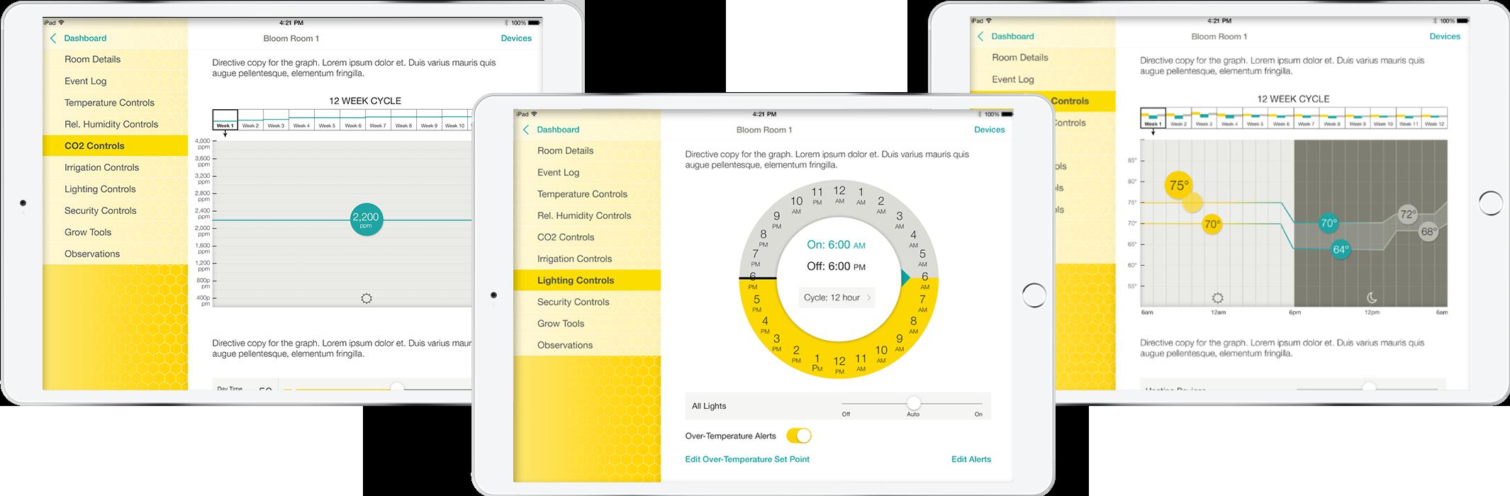Finished development of IoT application: iPads exhibit mechanisms of Swarm's farming app
