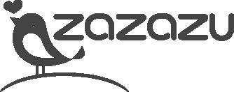desaturated logo of zazazu