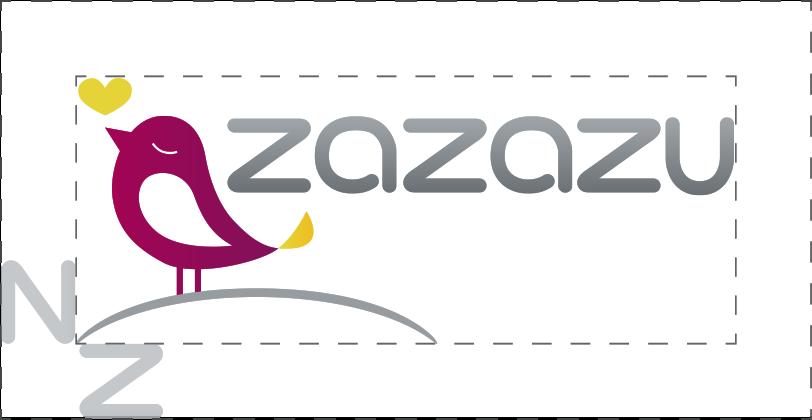 outline of zazazu logo with z used as a spacer