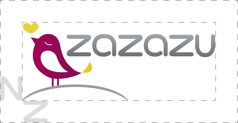 outline of zazazu logo with z used as a spacer
