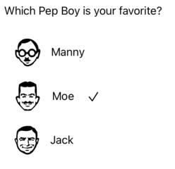 picking a Pep boy