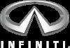 white logo of Infiniti